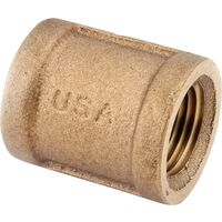 Low Lead Brass Coupling, 1 1/4""