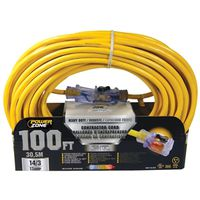 Powerzone Mag-Lite Pro SJTOW Outdoor Extension Cord