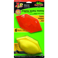 Zip Sander Refills, Assorted Grit 6 Pk