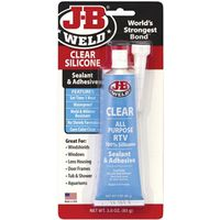 SEALANT SILICONE CLEAR 3OZ