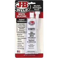 SEALANT SILICONE WHITE 3OZ