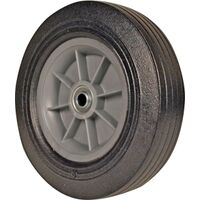 "Offset Hub Poly Ribbed Lawnmower Wheel, 10"" x 275"