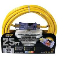 Pro Extension Cord, 12/3 SJTOW x 25' Yellow