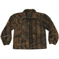Adult Full Zip Camouflage Fleece Jacket, XXX-Large Brown
