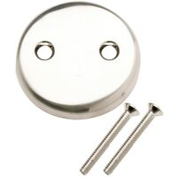 Trip Lever Face Plate with Screws, Nickel
