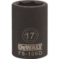 SOCKET IMPACT 1/2DR 6PT 17MM