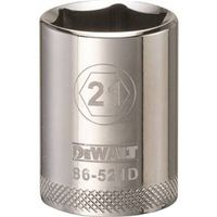 SOCKET 1/2 DRIVE 6PT 21MM