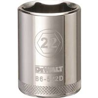 SOCKET 1/2 DRIVE 6PT 22MM