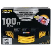 Powerzone ORP511835 Pro SJTOW Extension Cord