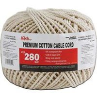 COTTON CABLE CORD NAT #24X280