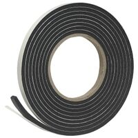 "Foam Tape, 3/8"" x  3/16"" x 10' Black"