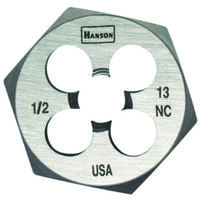 Hexagon Screw Dies, 9/18-12 NC x 1 7/16""