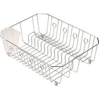 Rubbermaid 6008ARCHROM Twin Sink Small Wire Dish Drainer