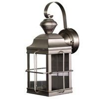 Motion Sensor Carriage Lantern, Brushed Nickel