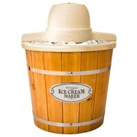 Wood Ice Cream Freezer, 4 Quart