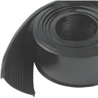Garage Weatherstripping Vinyl Replacement, 18' Black