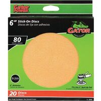 "Stick On Sanding Disc 80 Grit, 6"" Gold"