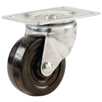Rubber Wheel Swivel Caster, 1 1/2""