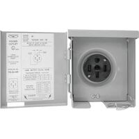 RV Power Outlet Panel, 50 Amp