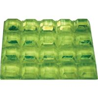 "Square Polyurethane Bumpers, 1/2"" Clear"