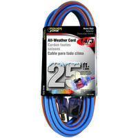 All Weather Extension Cord, 14/3 SJEOW X 25'
