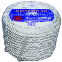 "Twist Nylon Rope, 1/2"" x 50'"