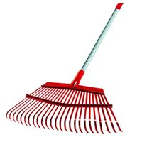 Leaf Rake with Metal Handle, 19&quot; x 54&quot;