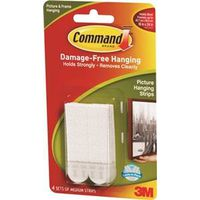 Command 17201-4PK Medium Picture Hanging Strip