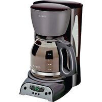 Mr Coffee Programmable Coffeemaker, Black