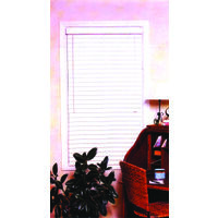 "Faux Wood Blinds, 39"" x 64""H White"