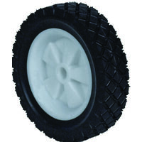 "Plastic Wheel Offset Hub Lawn Mower Wheel, 8"" x 175"