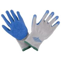 Rubber Palm Work Gloves, Medium