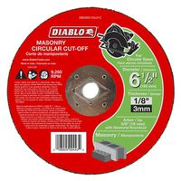 CUTOFF DISC MASONRY 6-1/2 IN