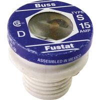 Heavy Duty Tamper Proof Plug Fuse, 15 Amp