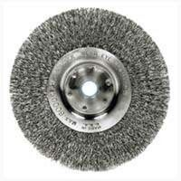 "Crimped Wire Wheel Brush, 6"" Fine"