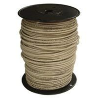 10 White Solid x 500&#39; Thin Single Wire