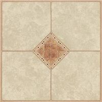 Vinyl Floor Tile, Diamond Inlay