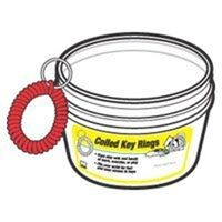 Coiled Key Ring Bucket