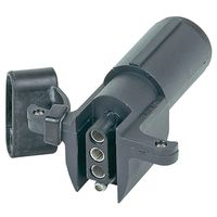 Hopkins 47305 6-Way Round to 4-Wire Flat Trailer Adapter