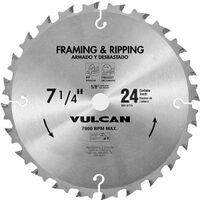 "Carbide Circular Saw Blade, 7 1/4"" x 24 Teeth"