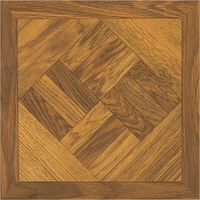 "Self Adhesive Vinyl Floor Tile, 12"" x 12"" x 1.2mm Dark Wood Geo"