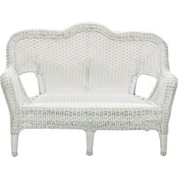 Savannah Woven Love Seat, White