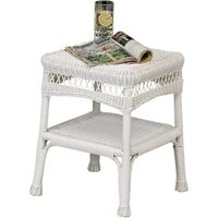 "Savannah Outdoor  Side Table, 17"" White"