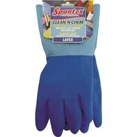 Clean N Chem Latex Gloves, Large