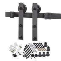 DOOR BARN HDWR KIT MATTE BLACK