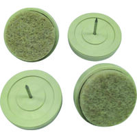 Plastic Base Glides with Felt, 3/4""