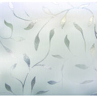 "Artscape Window Film, 24"" x 36"" Etched Leaf"