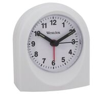 Quartz Alarm Clock, White
