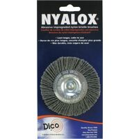 Nylon Wheel Brushes, 3""