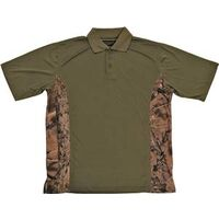 Camouflage Golf Shirt, Large Green